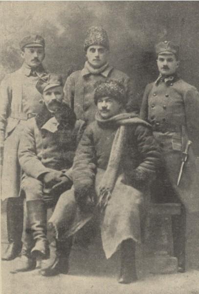 Представники Армії УНР на святі з нагоди об'єднання УНР і ЗУНР в Коломиї. Січень 1919 р.
