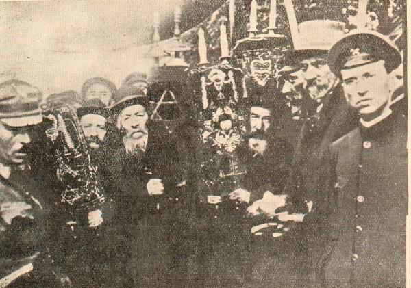 Єврейська делегація зустрічає Головного отамана Симона Петлюру в Жмеринці. Серпень 1919 р.
