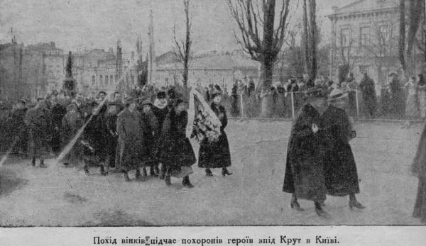 Похорон загиблих під Крутами. Київ. 19 березня 1918 р.